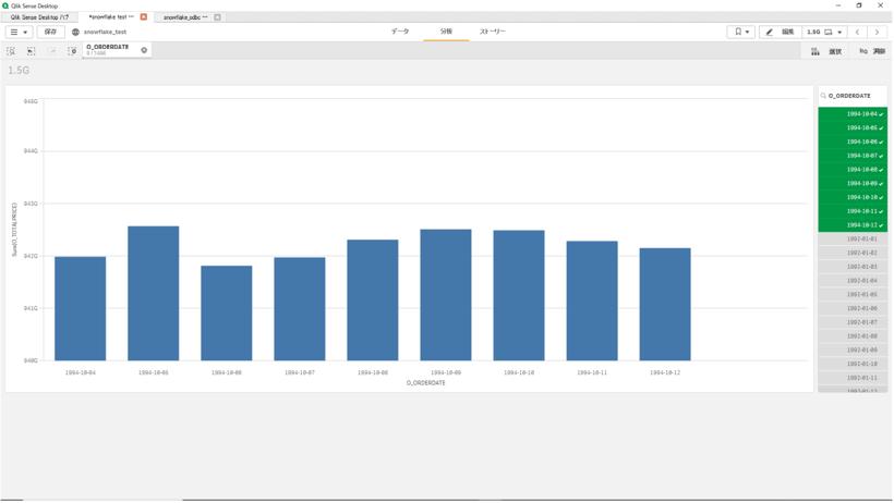 Qlik SenseとSnowflakeで150億件のデータを可視化してみた-12