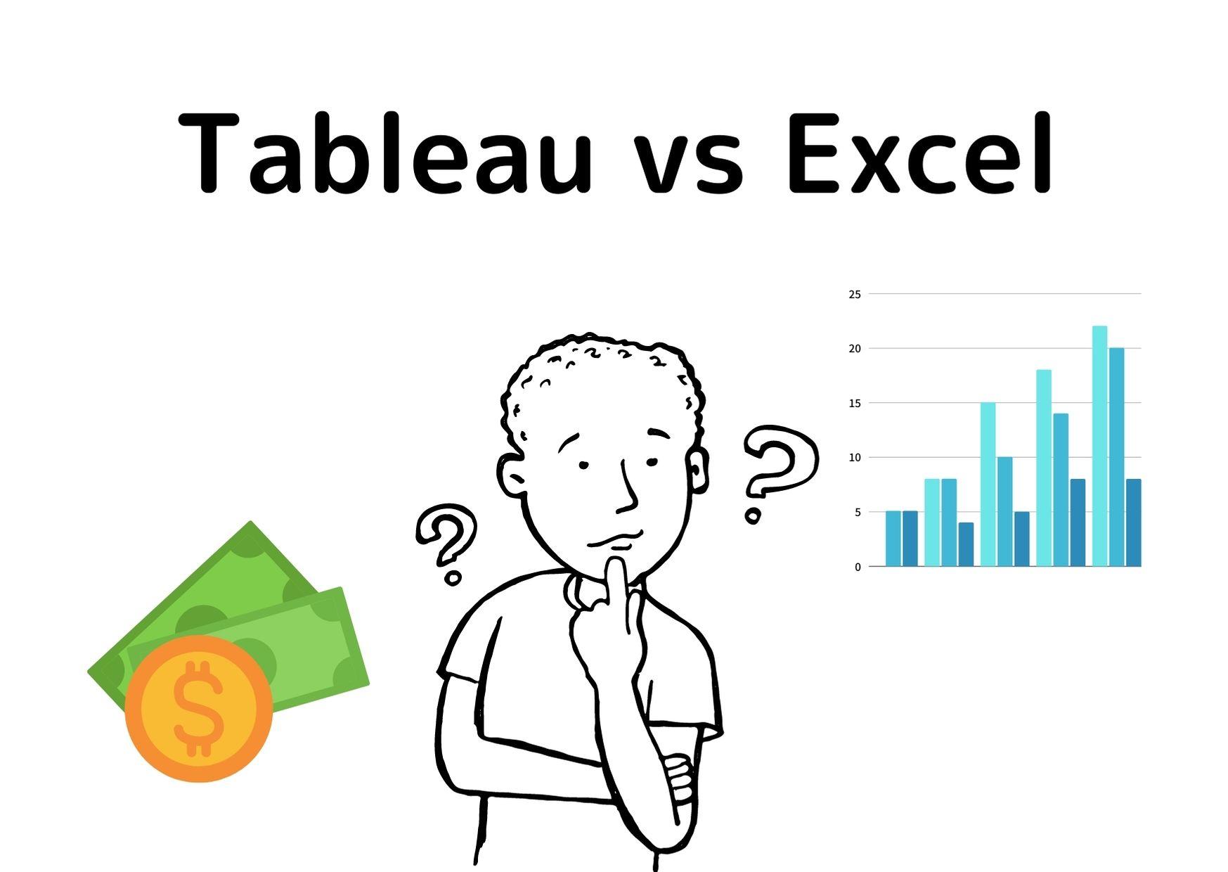 TableauとExcelの違い【6つのポイントで比較】